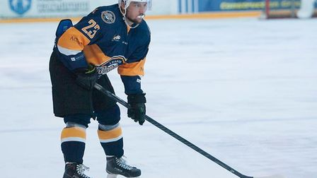 Olegs Lascenko maintained his fine form for London Raiders with another goal at Invicta (pic John Sc