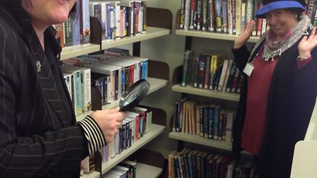 A crime writing festival is taking place at Southwold Library.Pictured is Southwold Library manager