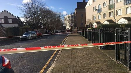 The teenager was stabbed to death in Goldwing Close last night. Picture: Alex Shaw