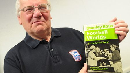 Former Ipswich mayor Roger fern with book written by his uncle Sir Stanley Rous