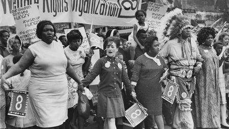 The National Welfare Rights Organisation marching to end hunger, 1968 Photo: Jack Rottier photograph