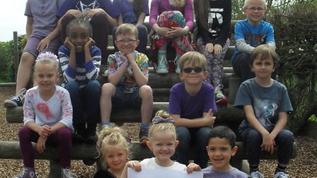 St Mary's RC Primary School Purple Day- Members of the School Council
