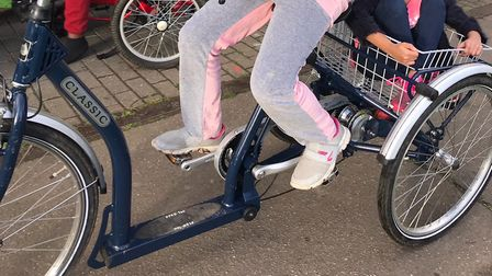 The specialist trike, which costs more than £1,500 was stolen between 2pm and 3pm on Monday. Picture