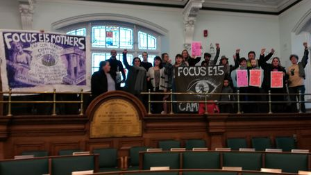 Campaigners from Focus E15, Fight Racism! Fight Imperialism!, Newham Green Party, The Museum of Home