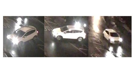 Images of the white Ford Kuga. Picture: Met Police
