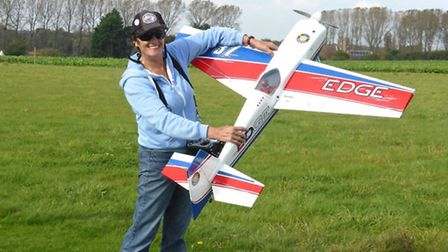 Linda Easter with her Edge 540 aircraft. Pictures: Submitted