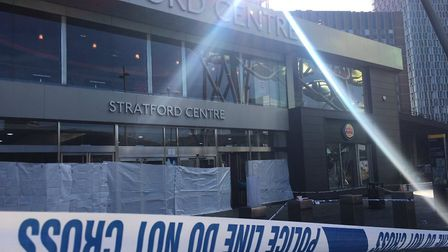 The victim was stabbed to death in Stratford shopping centre. Pic credit: Alex Shaw