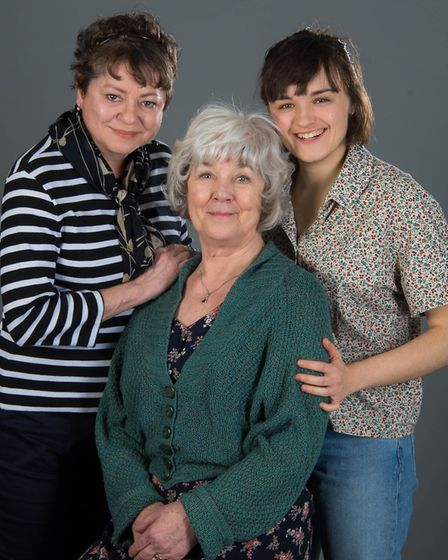 L-R: Suzan Sylvester, Jenny Lee and Hannah Bristow, who will be performing in Kindertransport at the