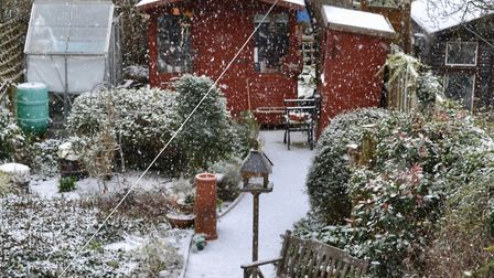 Picture sent in by Ron Jeffries. He said: �Snow came a few days earlier than forecast on Monday 26th