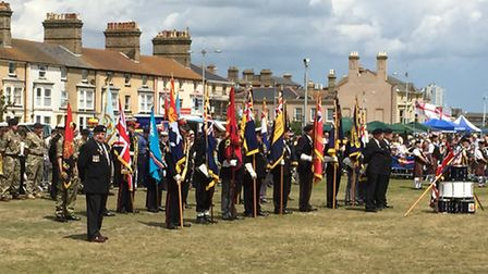 The Drumhead Service at the tenth annual Armed Foces Day on the Royal Green, Lowestoft. Picture: MIC