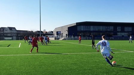 Action from the match between Essex and London under-16s (Pic: Mark Wallis/essexfa.com)