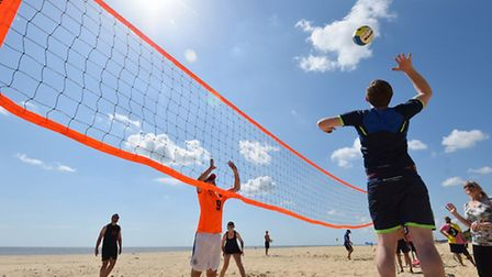 Lowestoft beach volleyball tournament on South beach.Picture: James Bass
