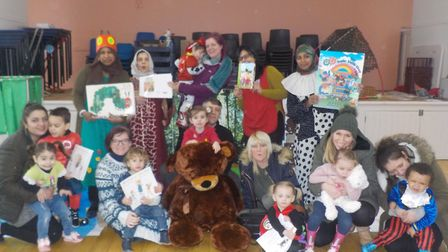 Children and parents from St Mary's pre-school celebrated World Book Day on Thursday. Picture: St Ma