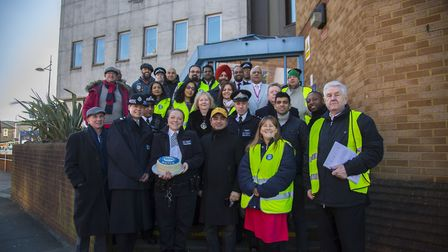 Volunteers and Residents launch Streetwatch Redbridge at Barkingside Police station. Photo by Ellie