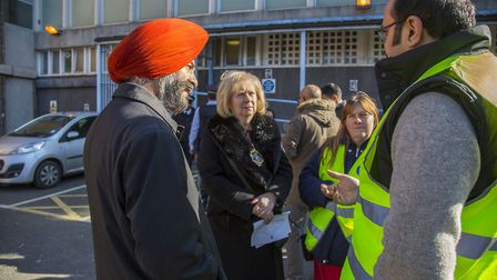 Volunteers and Residents launch Streetwatch Redbridge at Barkingside Police station. Sally Miller sp