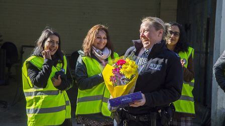 Volunteers and Residents launch Streetwatch Redbridge at Barkingside Police station. PC Kate King (d