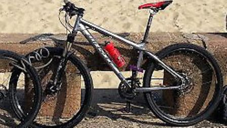 The silver bike was stolen from Pontins in Pakefield