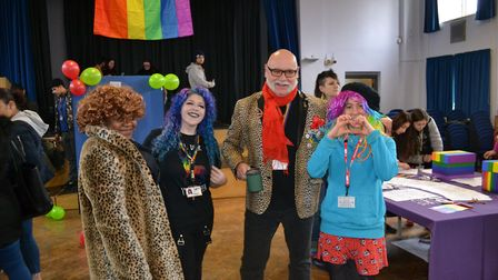 Students at NewVIc celebrated LGBT month in February. Picture: NewVIc