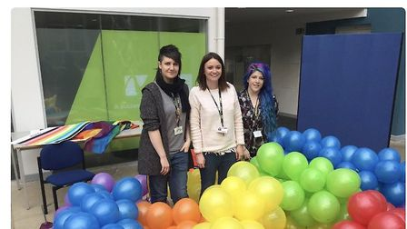 Activities involved 'rainbow laces' sports games, a 'gender unicorn' and talks from staff lecturers.