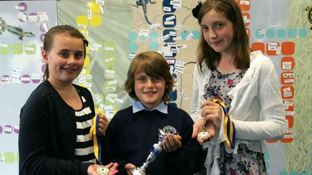 Previous winners of Explore Learning's Young Writers' Awards. Picture: Paul Bennett