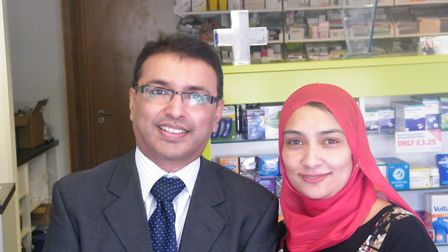 Pharmacist Jignesh Patel from Rohpharm Pharmacy and GP Dr Farzana Hussein from the Project Surgery.