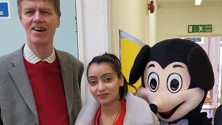 MP Stephen Timms with Praminder Kaur at the nursery's opening. Picture: Praminder Kaur