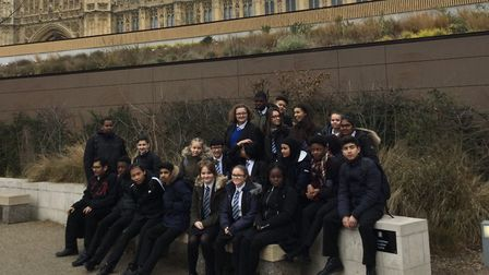 Students in Year Ten history and citizenship classes spent the day at Parliament. Picture: RDA