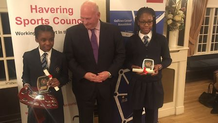 St Edward's athletics team won the Havering Sports Council primary school team of the year prize, sp