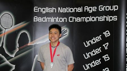 Brandon Yap won two silver medals at the Under-19 National Badminton Championships (pic: Elaine Yap)