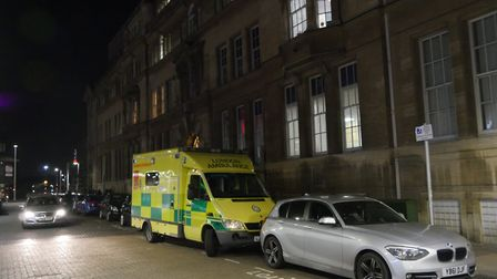 An ambulance is called to help Councillor Robert Cole after he fell ill.