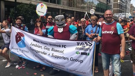 Hammerhead with Jim Dolan at the London Pride March