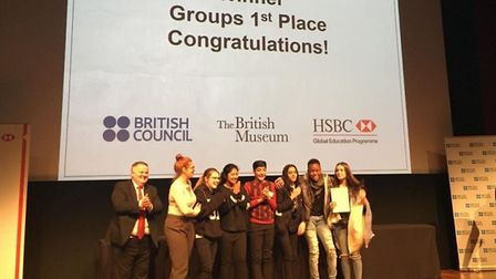 Kingsford Community School pupils won first prize in the group speaking award at the National Mandar