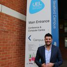 Mark Wright outside the University of East London Picture: UEL.