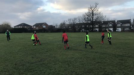 Action from Marshalls Park's clash with Bower Park