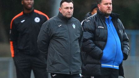 Ilford joint managers Allan Fenn and Billy Cove (Pic: Gavin Ellis/TGS Photo)