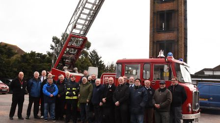 LFB Commisioner Dany Cotton on a visit to Romford fire station to meet those who have been involved