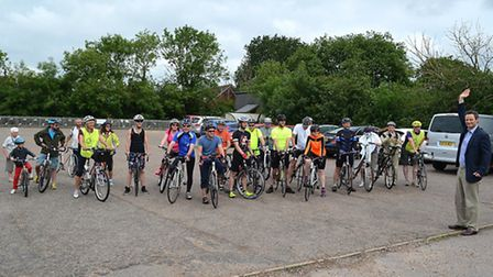 The Ron Sampson Charity Cycle Ride, organised by Lowestoft's East Point Rotary Club, was held around