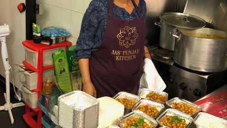 Jas' Punjabi Kitchen at The Retailery fed 100 homeless people with her chickpea curry.
