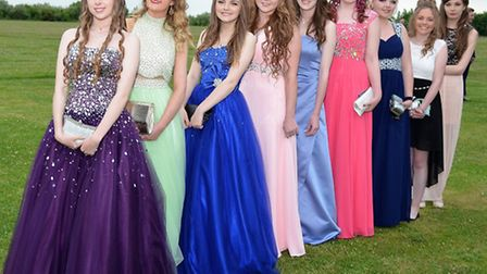 Ormiston Denes Academy prom. Students face the camera. Pictures: MICK HOWES