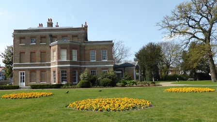 Flowers in bloom as Springtime comes to brighten up the gardens at Valentines Mansion. Photo: Dharam