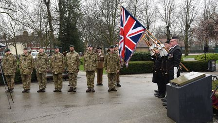 The special commemorative ceremony to honour the date that Lieutenant Bernard Cassidy was awarded th