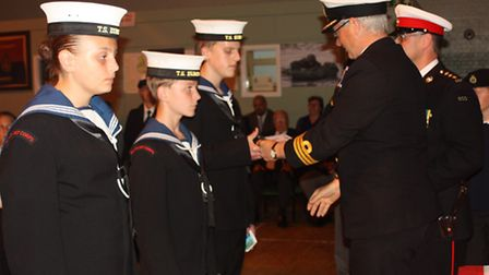 The Lowestoft Sea Cadets inspection evening. Picture: Yiyi Sun