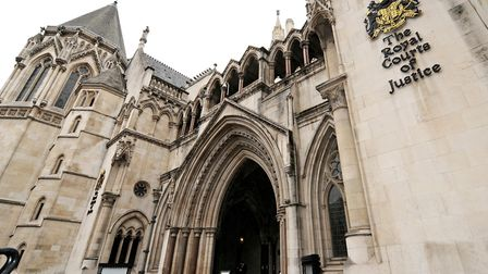 General view of the High Court on the Strand, London.