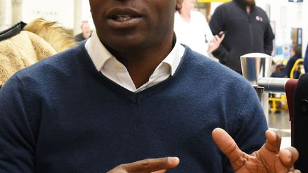 Shaun Bailey speaking at Queen's Hospital