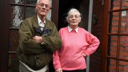 The married couple are warning other residents about the scam. Picture: Ken Mears
