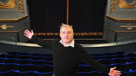 BACK THEN: Martin Halliday, pictured in 2012, inside a newly decorated Marina Theatre.