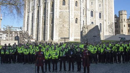Servator officers at the Tower of London. Picture: Met Police