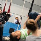 Children learn circus skills at Fight For Peace Picture: Alex Harvey-Brown