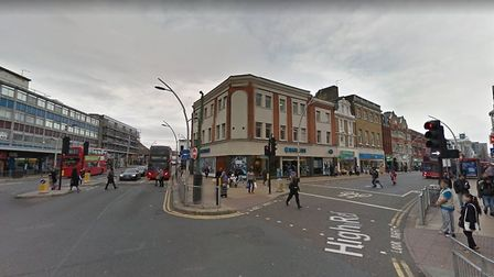Officers were called to reports of a man stabbed in High Road, Ilford, at 3am. Photo: Google
