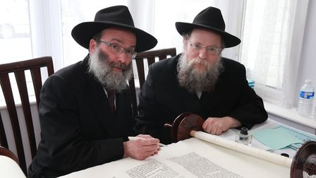 Rabbi Sufrin MBE executive director Chabad North East London and Essex writing one of the final lett